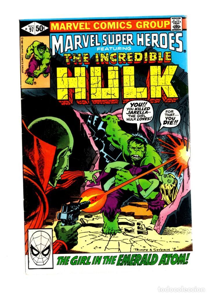 MARVEL SUPER HEROES 97 / INCREDIBLE HULK 148 - 1981 VFN- / DEATH OF JARELLA (Tebeos y Comics - Comics Lengua Extranjera - Comics USA)