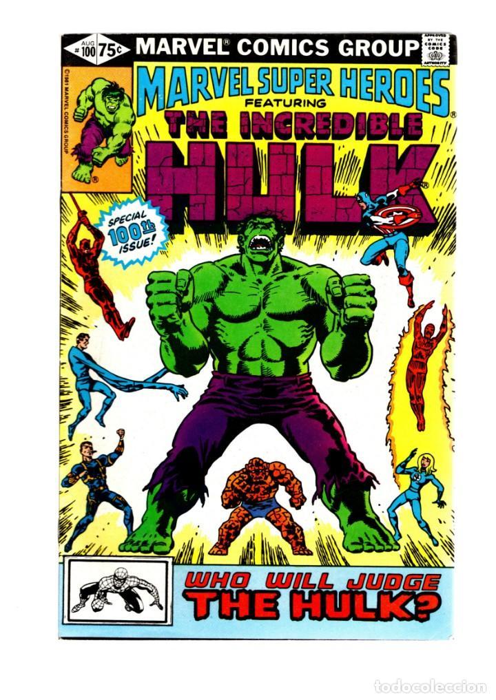 MARVEL SUPER HEROES 100 / INCREDIBLE HULK 151 152 - 1981 VFN- GIANT SIZE / TRIAL OF THE HULK (Tebeos y Comics - Comics Lengua Extranjera - Comics USA)