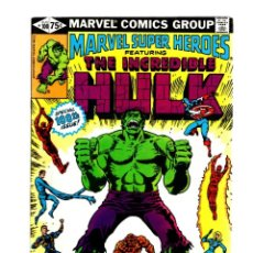 Cómics: MARVEL SUPER HEROES 100 / INCREDIBLE HULK 151 152 - 1981 VFN- GIANT SIZE / TRIAL OF THE HULK. Lote 266206848