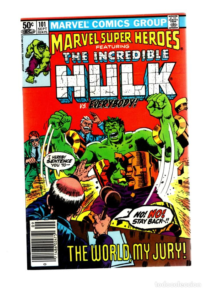 MARVEL SUPER HEROES 101 / INCREDIBLE HULK 153 - 1981 VFN+ / TRIAL OF THE HULK (Tebeos y Comics - Comics Lengua Extranjera - Comics USA)