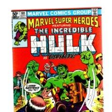 Cómics: MARVEL SUPER HEROES 101 / INCREDIBLE HULK 153 - 1981 VFN+ / TRIAL OF THE HULK. Lote 266207083