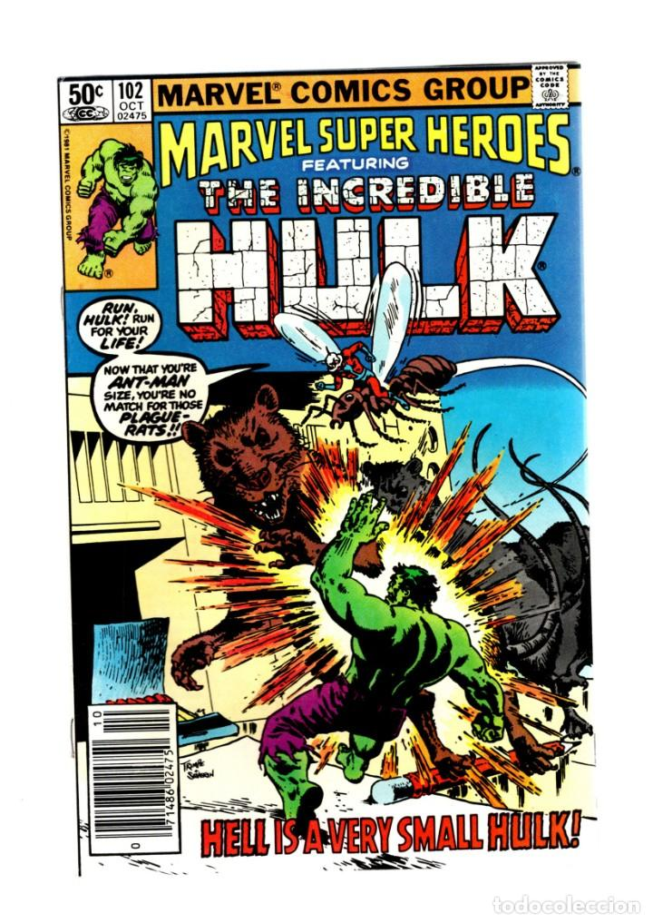 MARVEL SUPER HEROES 102 / INCREDIBLE HULK 154 - 1981 VFN+ / ANT-MAN (Tebeos y Comics - Comics Lengua Extranjera - Comics USA)