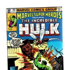 Cómics: MARVEL SUPER HEROES 102 / INCREDIBLE HULK 154 - 1981 VFN+ / ANT-MAN. Lote 266207443