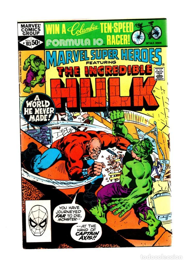 MARVEL SUPER HEROES 103 / INCREDIBLE HULK 155 - 1981 FN (Tebeos y Comics - Comics Lengua Extranjera - Comics USA)