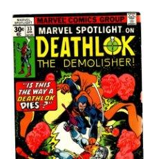 Cómics: MARVEL SPOTLIGHT 33 DEATHLOK VS DEVIL-SLAYER - 1977 FN+. Lote 266210928
