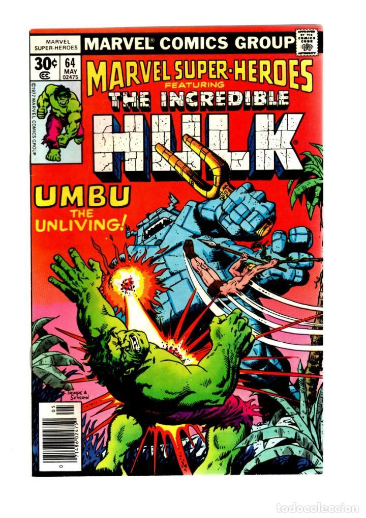 MARVEL SUPER HEROES 64 / INCREDIBLE HULK 110 - MARVEL 1977 VFN+ / KA-ZAR (Tebeos y Comics - Comics Lengua Extranjera - Comics USA)