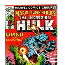 Cómics: MARVEL SUPER HEROES 64 / INCREDIBLE HULK 110 - MARVEL 1977 VFN+ / KA-ZAR. Lote 266211363