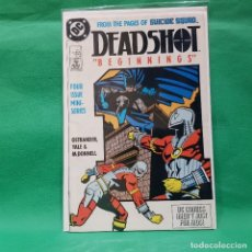 Cómics: DEADSHOT 1 - DC 1988 / VFN / BEGINNINGS. Lote 266477888