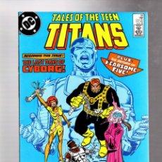Comics: NEW TEEN TITANS 56 TALES OF - DC 1985 VFN+ MARV WOLFMAN & CHUCK PATTON / LAST DAYS OF CYBORG. Lote 266561388