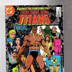Comics: NEW TEEN TITANS 57 TALES OF - DC 1985 VFN+ / MARV WOFMAN & CHUCK PATTON / 1ST MASK PREVIEW. Lote 266561728