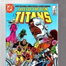 Comics: NEW TEEN TITANS 58 TALES OF - DC 1985 VFN/NM / MARV WOLFMAN & CHUCK PATTON / RETURN CYBORG. Lote 266562018