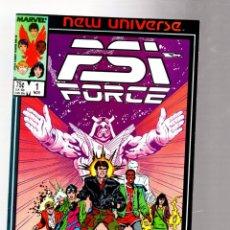 Comics: PSI FORCE 1 - MARVEL NEW UNIVERSE 1986 VFN/NM. Lote 266752323