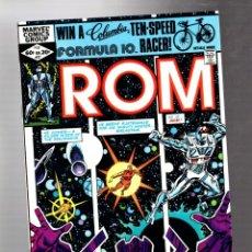 Cómics: ROM SPACEKNIGHT 27 - MARVEL 1982 VFN+ / GALACTUS ON GALADOR. Lote 266770469