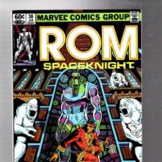 Cómics: ROM SPACEKNIGHT 38 - MARVEL 1983 VFN- / BILL MANTLO & SAL BUSCEMA / SHANG CHI MASTER OF KUNG FU. Lote 266773854