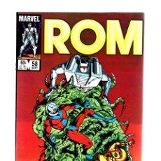 Cómics: ROM SPACEKNIGHT 58 - MARVEL 1984 VFN/NM / BILL MANTLO & SAL BUSCEMA / ANT-MAN. Lote 266841939