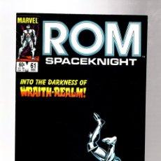 Cómics: ROM SPACEKNIGHT 61 - MARVEL 1984 VFN+ / BILL MANTLO & STEVE DITKO. Lote 266845064