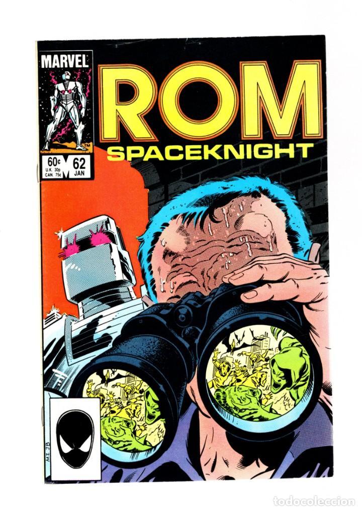 ROM SPACEKNIGHT 62 - MARVEL 1985 VFN / BILL MANTLO & STEVE DITKO / X-MEN'S FORGE (Tebeos y Comics - Comics Lengua Extranjera - Comics USA)
