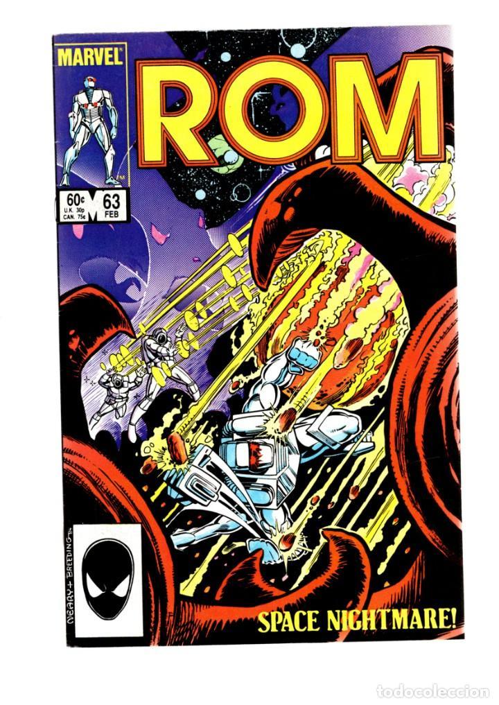 ROM SPACEKNIGHT 63 - MARVEL 1985 VFN / BILL MANTLO & STEVE DITKO / X-MEN'S FORGE (Tebeos y Comics - Comics Lengua Extranjera - Comics USA)