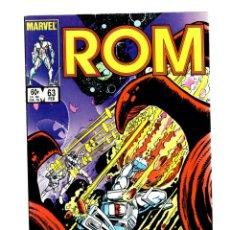 Cómics: ROM SPACEKNIGHT 63 - MARVEL 1985 VFN / BILL MANTLO & STEVE DITKO / X-MEN'S FORGE. Lote 266845619
