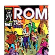 Cómics: ROM SPACEKNIGHT 64 - MARVEL 1985 VFN+ / BILL MANTLO & STEVE DITKO / THE END IS HERE. Lote 266845834