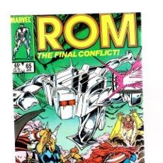 Cómics: ROM SPACEKNIGHT 65 - MARVEL 1985 VFN+ / THE FINAL BATTLE / AVENGERS / X-MEN / DEFENDERS.... Lote 266846059