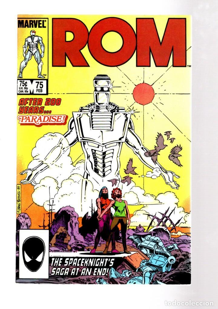 ROM SPACEKNIGHT 75 - MARVEL 1986 VFN+ / BILL MANTLO, STEVE DITKO & CRAIG RUSSELL / FINAL ISSUE (Tebeos y Comics - Comics Lengua Extranjera - Comics USA)