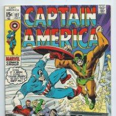 Cómics: CAPTAIN AMERICA Nº 127 (JULIO 1970). ORIGINAL MARVEL. MUY BUEN ESTADO. STAN LEE - GENE COLAN. Lote 266934434