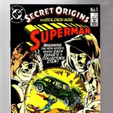 Cómics: SECRET ORIGINS 1 - DC 1986 VFN / GOLDEN AGE SUPERMAN. Lote 266996634