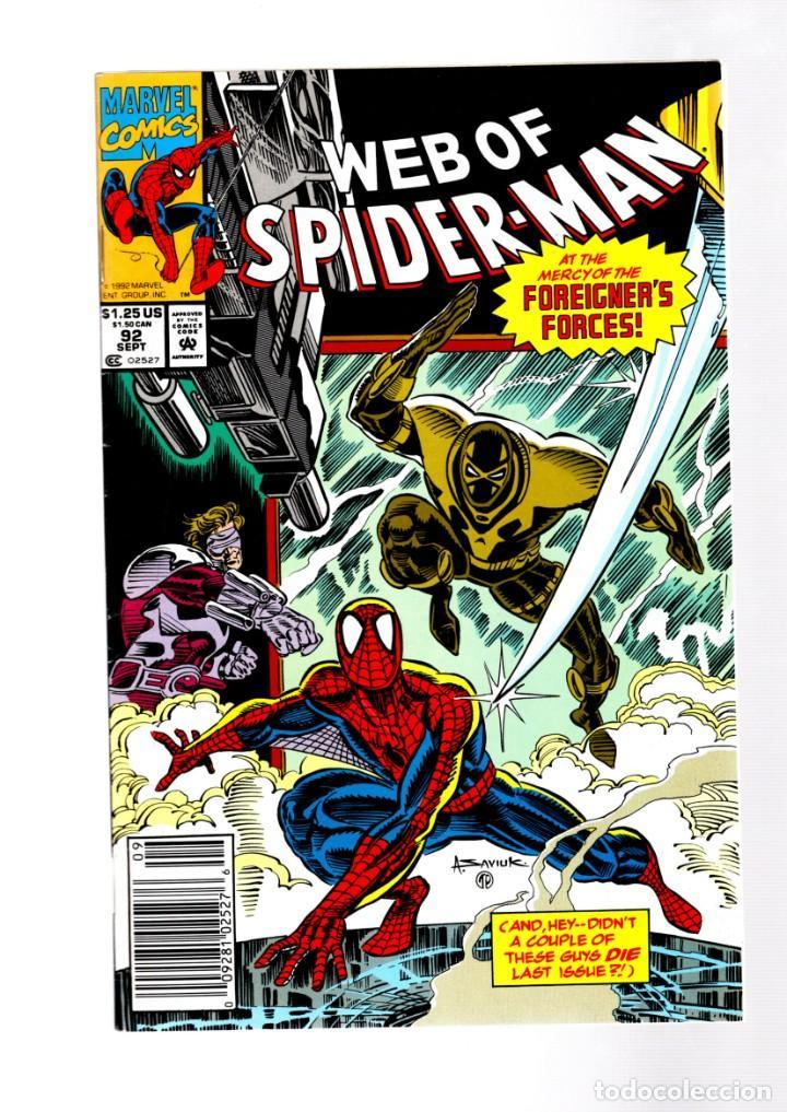 WEB OF SPIDER-MAN 92 - MARVEL 1992 VFN+ (Tebeos y Comics - Comics Lengua Extranjera - Comics USA)
