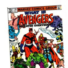 Cómics: WHAT IF 29 AVENGERS DEFEATED EVERYBODY ? - MARVEL 1981 VFN / INHUMANS / NAMOR / ETERNALS. Lote 268590474