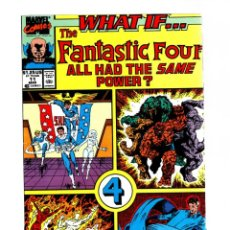 Cómics: WHAT IF 11 THE FANTASTIC FOUR ALL HAD THE SAME POWER ? - MARVEL 1990 VFN/NM. Lote 268590694