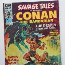 Cómics: SAVAGE TALES Nº 3 CON CONAN, LA SEGUNDA PARTE DE CLAVOS ROJOS, DE BARRY SMITH Y OTRAS HISTORIAS.1974. Lote 269068248