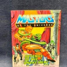 Cómics: MINI COMIC MASRTER OF THE UNIVERSE REVENGE OF THE SNAKE MEN 1986 MATTEL USA PRINTED HONG KONG 13X10C. Lote 271814478