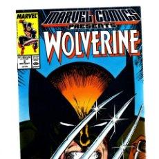 Cómics: MARVEL COMICS PRESENTS 2 - 1988 VFN / WOLVERINE POR JOHN BUSCEMA / MAN-THING / SHANG CHI. Lote 275867728