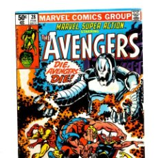 Cómics: MARVEL SUPER ACTION 28 / AVENGERS 67 - 1981 FN+ / ROY THOMAS & BARRY WINDSOR SMITH / ULTRON. Lote 275871918