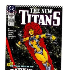 Comics: NEW TEEN TITANS ANNUAL 6 - DC 1990 VFN/NM / WOLFMAN & CULLINS. Lote 275996613