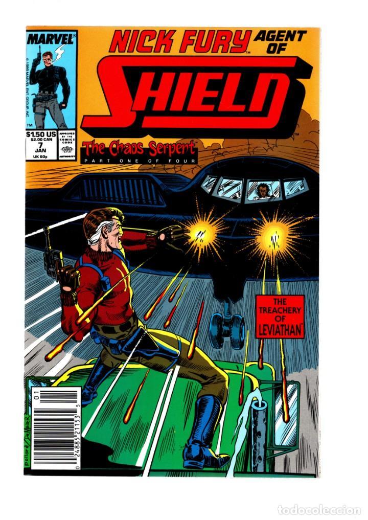 NICK FURY AGENT OF SHIELD 7 - MARVEL 1989 VFN/NM (Tebeos y Comics - Comics Lengua Extranjera - Comics USA)