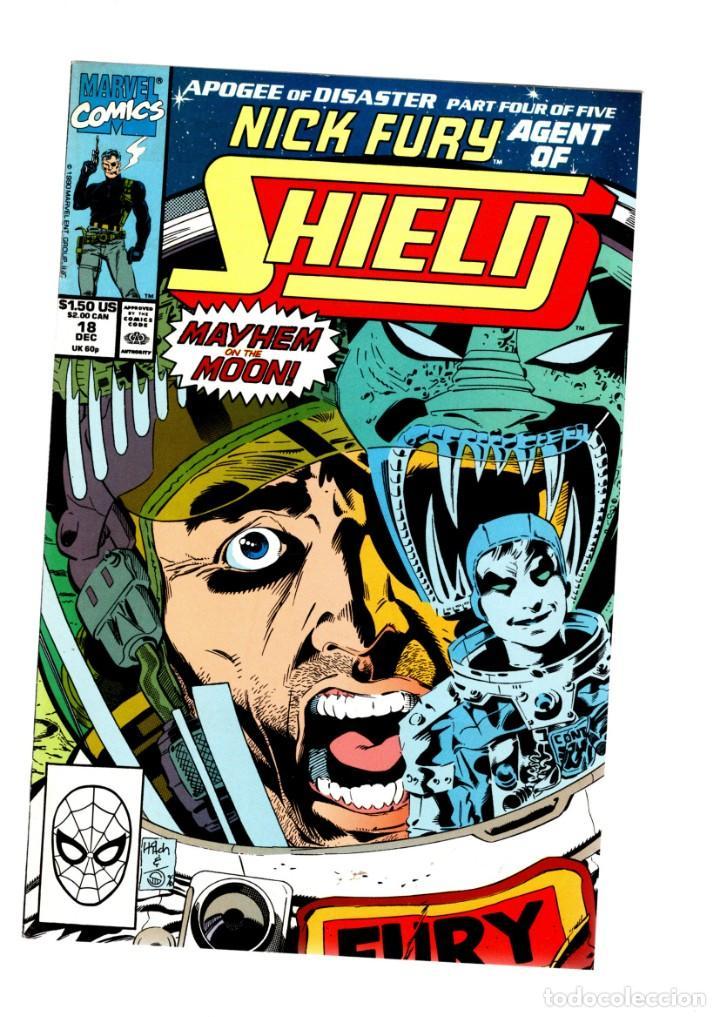 NICK FURY AGENT OF SHIELD 18 - MARVEL 1990 VFN/NM (Tebeos y Comics - Comics Lengua Extranjera - Comics USA)