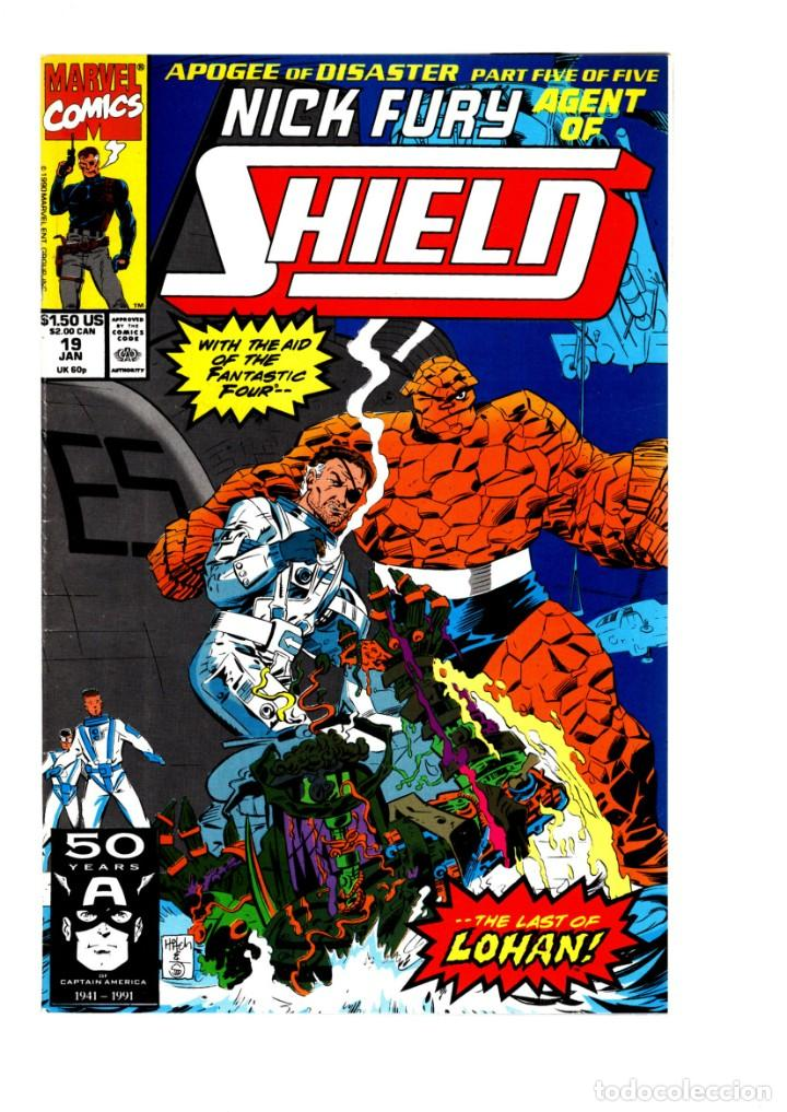 NICK FURY AGENT OF SHIELD 19 - MARVEL 1991 VFN / FANTASTIC FOUR (Tebeos y Comics - Comics Lengua Extranjera - Comics USA)