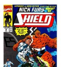 Cómics: NICK FURY AGENT OF SHIELD 19 - MARVEL 1991 VFN / FANTASTIC FOUR. Lote 276002918