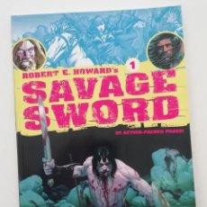 Cómics: ROBERT E. HOWARD'S SAVAGE SWORD Nº 1, CON GUSANOS DE LA TIERRA, POR BARRY SMITH Y TIM CONRAD. Lote 276251023