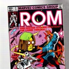 Cómics: ROM SPACEKNIGHT 41 - MARVEL 1983 VFN / BILL MANTLO & SAL BUSCEMA / DOCTOR STRANGE. Lote 276534238