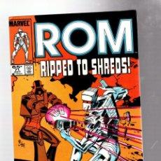 Cómics: ROM SPACEKNIGHT 71 - MARVEL 1985 VFN- / BILL MANTLO, STEVE DITKO & CRAIG RUSSELL. Lote 276534848