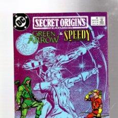Fumetti: SECRET ORIGINS 38 - DC 1989 VFN / GREEN ARROW & SPEEDY / MIKE GRELL & HANNIBAL KING. Lote 276539178