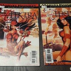 Cómics: LOTE COMICS - ELEKTRA - 2001 - SEGUNDA SERIE (MARVEL KNIGHTS) 1 Y 2 - BENDIS / AUSTEN / HORN. Lote 276746953