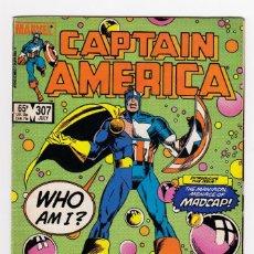 Cómics: CAPTAIN AMERICA 307 - MARVEL USA 1985 - FIRST MADCAP - DEADPOOL 3. Lote 262131760