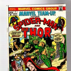 Cómics: MARVEL TEAM UP 7 AMAZING SPIDER-MAN & THOR - 1973 FN / GERRY CONWAY & ROSS ANDRU. Lote 277055568