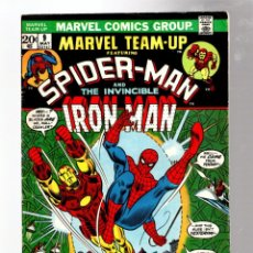 Cómics: MARVEL TEAM UP 9 AMAZING SPIDER-MAN & IRON MAN - 1973 VG / KANG THE CONQUEROR. Lote 277056588