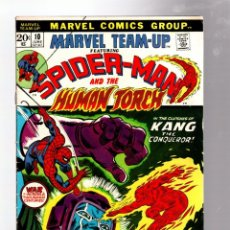 Cómics: MARVEL TEAM UP 9 AMAZING SPIDER-MAN, IRON MAN & HUMAN TORCH - 1973 FN / KANG THE CONQUEROR. Lote 277056948