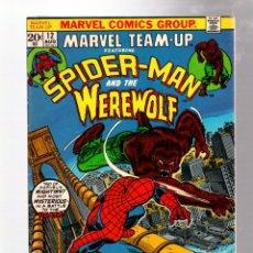 Cómics: MARVEL TEAM UP 12 AMAZING SPIDER-MAN VS WEREWOLF - 1973 FN/VFN. Lote 277057573